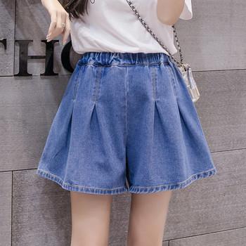 Нов модел къси дамски панталони с висока талия - широк модел