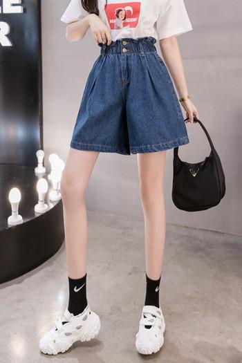 Ежедневни къси дамски панталони с висока талия от деним