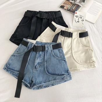 Ежедневни къси панталони с големи джобове и колан