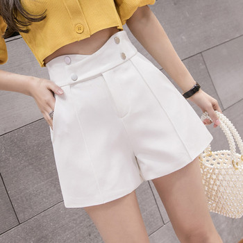 Дамски ежедневни къси панталони с висока талия и  джобове