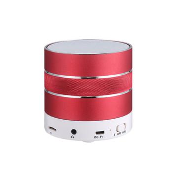 Мини преносима Bluetooth тонколона с алуминиев корпус, слот за TF карта , FM, Handsfree и USB порт в червен цвят