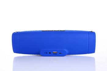 Преносима колонка модел Е9 с Bluetooth,USB,AUX свързаност и слот за TF card- син цвят