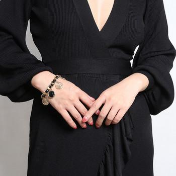 Нов модел модерна дамска гривна с кръгли висулки