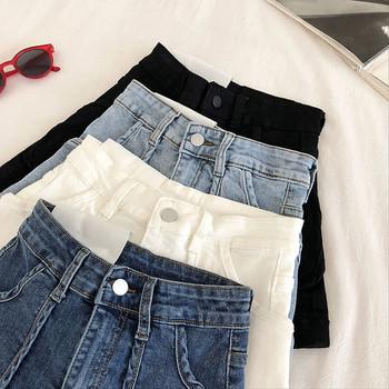 Ежедневни къси дънкови панталон с висока талия и джобовве