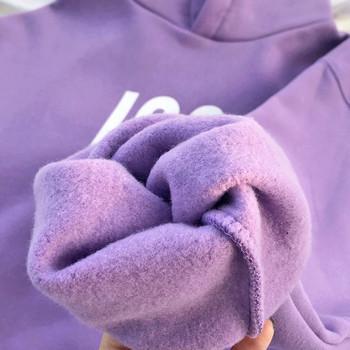 Дамски суичър с качулка, джоб и щампа