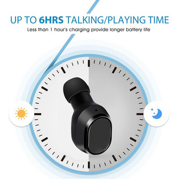 Безжични Earbuds слушалки модел TWS18 с powerbank, Bluetooth версия 5.0 + EDR, Стерео звук - черен цвят