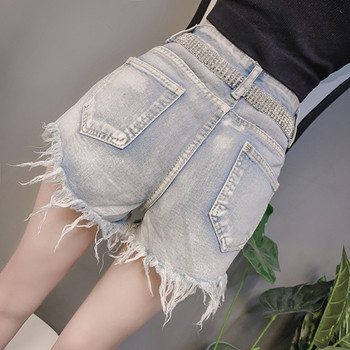 Нов модел къси дънки и колан с перли и камъни