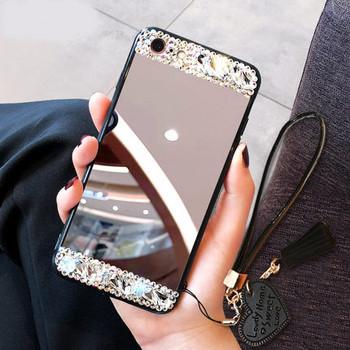 Огледален калъф  с камъни за iPhone 6 Plus и iPhone 6S Plus
