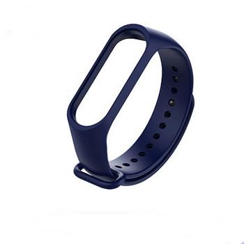 Силиконова каишка в тъмносин цвят за фитнес гривни модел M3