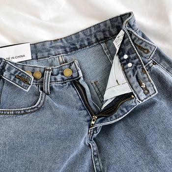 Ретро дамски къси дънки с регулируема талия