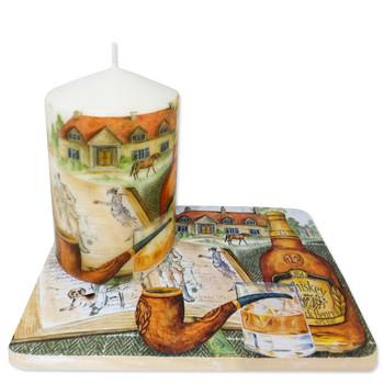 Свещ с подложка
