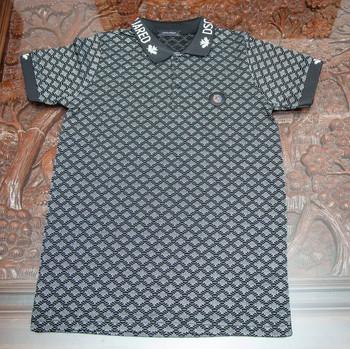Таниска с яка черно и бяло