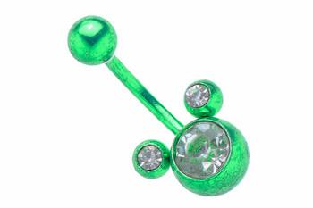 Обеца за пъп Green Mickey