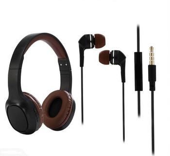 Безжични Bluetоoth слушалки SY-BT1605 със слот за MP3 карта + слушалки тапи в черен цвят