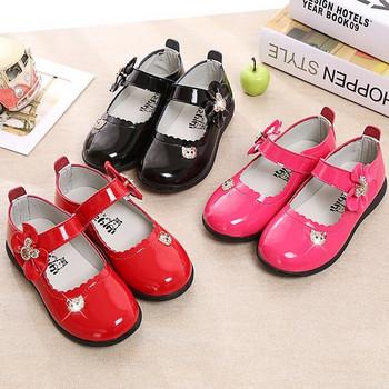 Детски обувки за момичета широк диапазон от размери - розов, червен и черен цвят