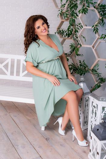А-симетрична рокля с колан