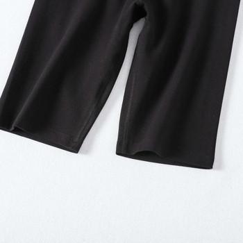 Къс спортен дамски клин в черен цвят подходящ за йога