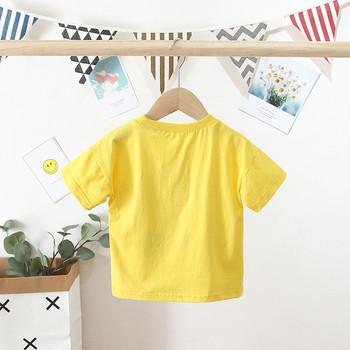 Ежедневна детска тениска с овално деколте и апликация