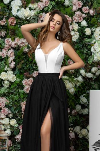 Дълга рокля с мрежа