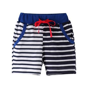 Детски къси панталони за момчета с връзки и джобове