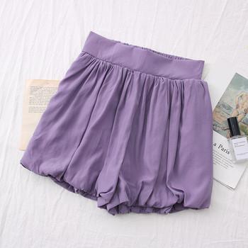 Ежедневни къси панталони с висока талия -широк модел