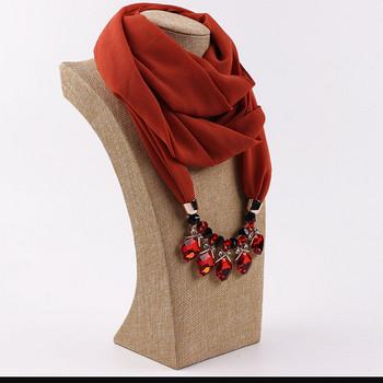 НОВ модел дамско колие с камъни тип шал