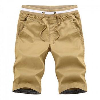 Ежедневни мъжки къси панталони с ластик на талията
