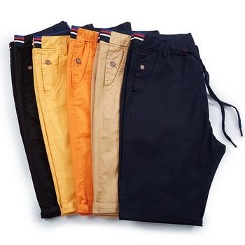 Модерни мъжки 3/4 къси панталони с връзки на талията