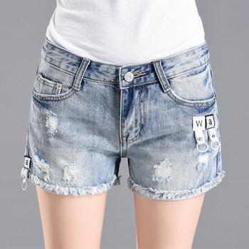 Нов модел къси дънкови панталони със скъсани мотиви - няколко модела
