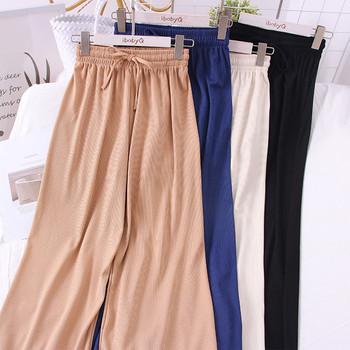 Ежедневни дълги дамски панталони - широк модел