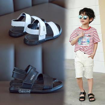 Детски сандали от еко кожа за момчета с равна подметка