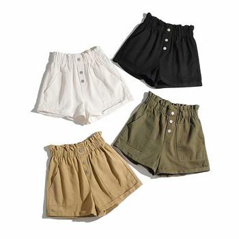 Къси панталони с висока ластична талия
