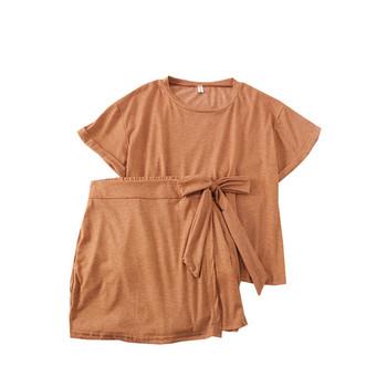 Нов модел дамски комплект пола-панталон + блуза