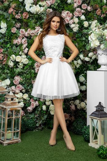 Къса рокля с мрежа