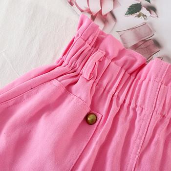 Къси дамски панталони с капси и джобове