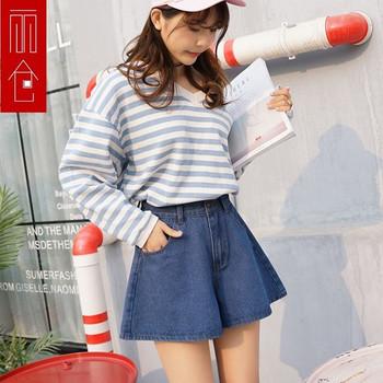 Нов модел къси дънкови панталони - разкроен модел