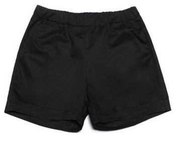 Ежедневни дамски къси панталони с висока талия изчистен модел