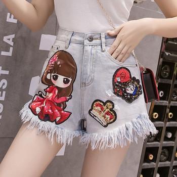 Нов модел къси дамски панталони с щампа