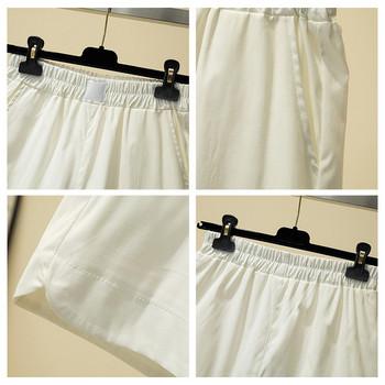 Ежедневни дамски къси панталони с ластик и висока талия