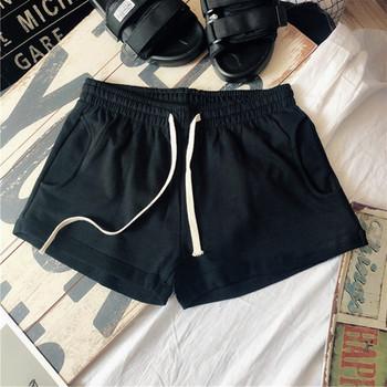 Ежедневни дамски къси панталони с връзки и два джоба