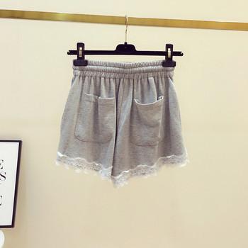 Ежедневни дамски къси панталони с връзки и дантела