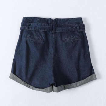 Нов модел къси дънки с висока талия и колан