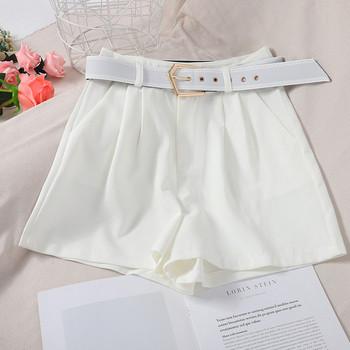 Модерни дамски панталони  с висока талия и колан