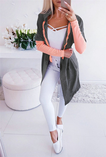 НОВ модел дамски суичър с качулка и връзки