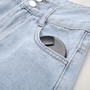 Нов модел къси дънкови дамски панталони със скъсани мотиви