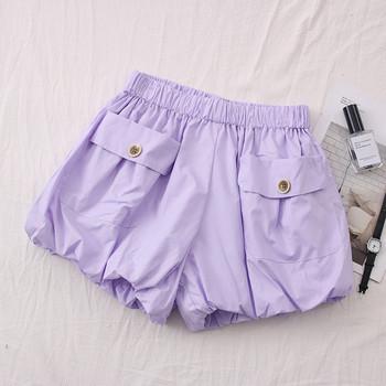Нов модел къси дамски панталони с ластична талия и джоб