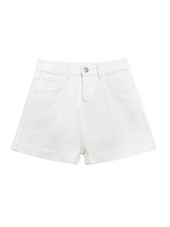 Модерни дамски къси панталони с висока талия и джобове