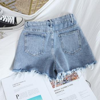 Ежедневни дамски къси дънки с джобове