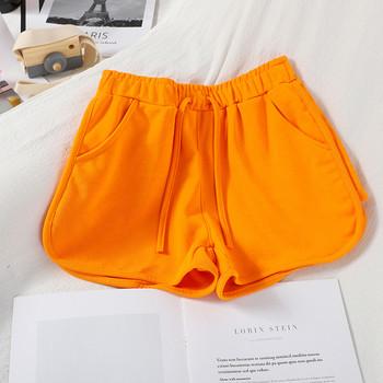 Ежедневни дамски къси панталони с ластик и джобове