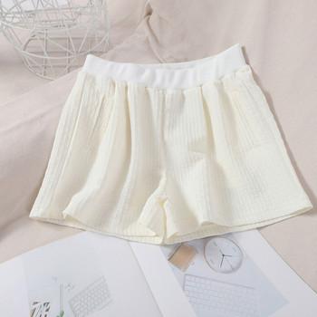 Къси дамски панталони с ластик и джобове